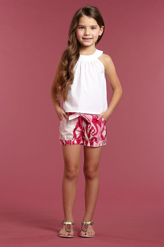 Oscar De la Renta Childrens circle sleeveless top ss 2015 white cotton purchsed on sale TSUM discount for 28 usd