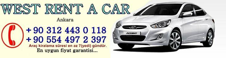 Ankara rent a car firması olan Vest tüm araç kiralama işlemlerinde en uygun fiyat garantisi sunar. 0554 497 2 397