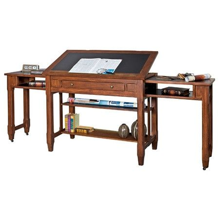 Awesome desk!  This would be awesome in a craft room, scrap booking, painting, or studio.