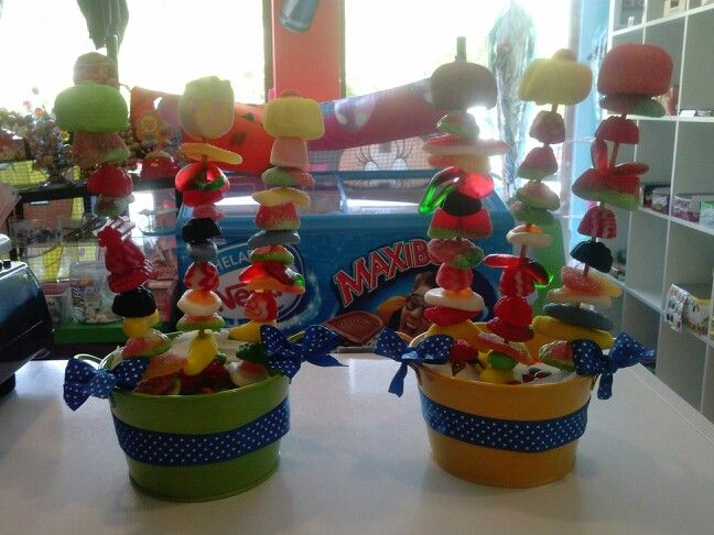 Macetas de gominolas decoradas mis tartas de chuches - Macetas de chuches ...