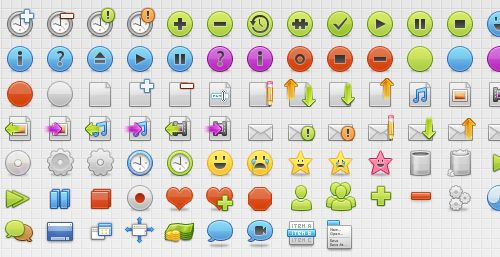 40 Free and Useful GUI Icon Sets for Web Designers