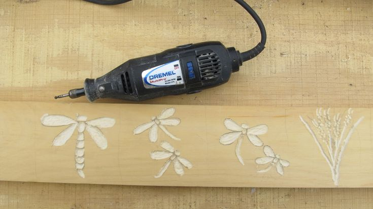 Dremel Woodworking Patterns | Continue the pattern the whole length of the board. With a dremel or ...