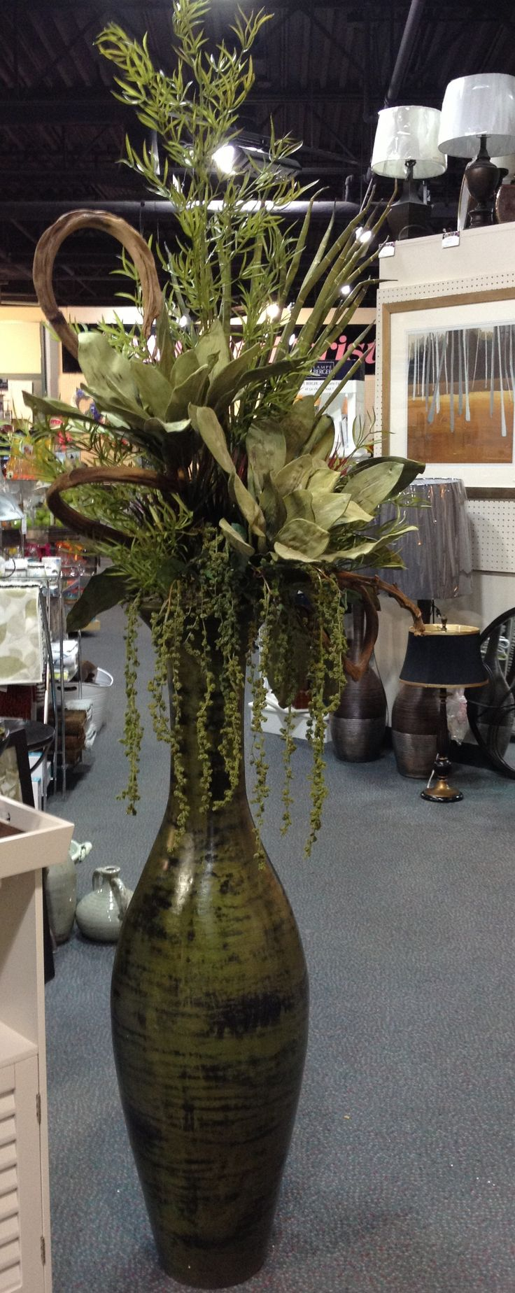 large floor vase arrangement designed by sandra macpherson