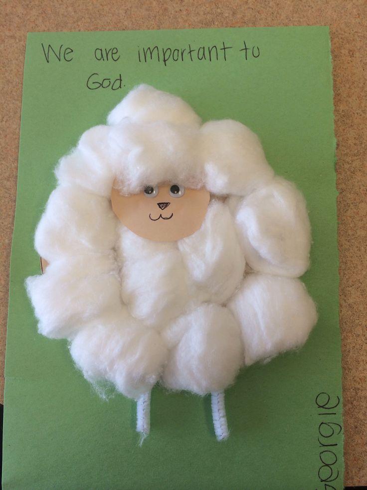 Little lamb craft with the preschoolers. Sunday school craft!