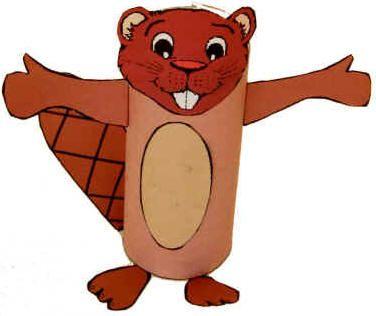 Canada Day Craft ideas -- beaver TP roll