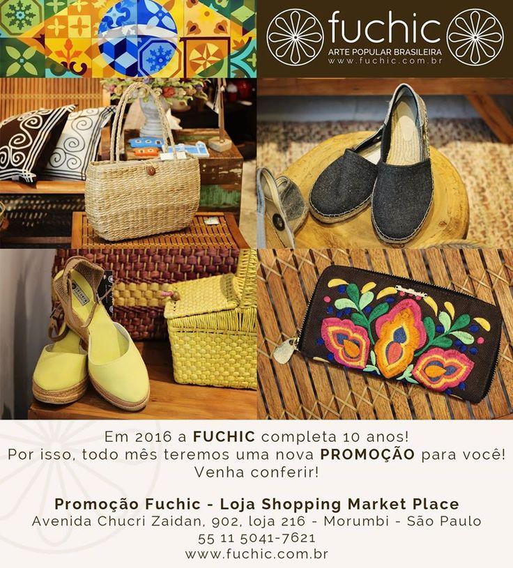 Bolsas e sapatos com 30% de desconto na loja do Shopping Market Place. Venha nos visitar e comemorar os 10 anos da Fuchic. O desconto é válido para todas as lojas, confira os endereços no site www.fuchic.com.br. // Bags and shoes 30% off in the Shopping Market Place store. Come visit us and celebrate 10 years of Fuchic. The discount is valid for all stores, check the addresses at www.fuchic.com.br.  #fuchic #nafuchictem #lojafuchic #promoçãofuchic #fuchic10anos #aniversáriofuchic #calçados