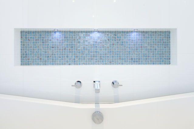 Bathroom feature #tiles #sink