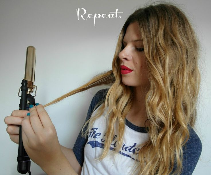 How to do boho curls.: Boho Curls, Curls Hair, Hair Colors, Hair Tutorials, Beaches Waves, Hair Style, Curls Irons, Flats Irons, Boho Waves