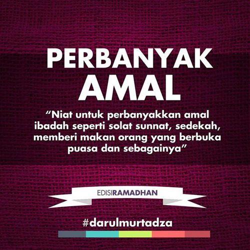 Perbanyak Amal di Bulan Ramadhan #darulmurtadza