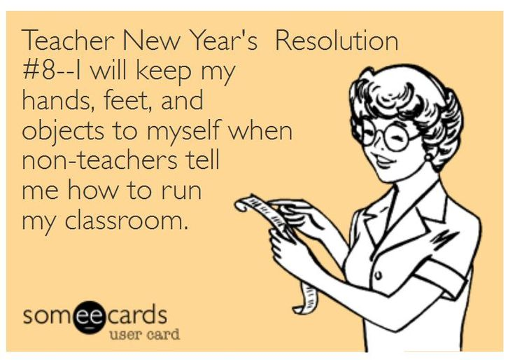 Teacher New Year's Resolution
