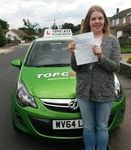 Congratulations to Hayley Nelsonof Gillingham Kent, who passed her Practical driving test first time on Thursday 3rd September. Hayley passed her driving test at the Gillingham driving test centre. Hayley is looking forward to being able to take herself backwards and forwards to work, and off to university in her little red volkswagon polo. Hayley I hope to see you driving around Gillingham very soon.  Well done Hayley