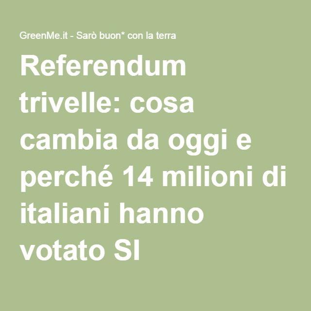 Referendum trivelle: cosa cambia da oggi e perché 14 milioni di italiani hanno votato SI