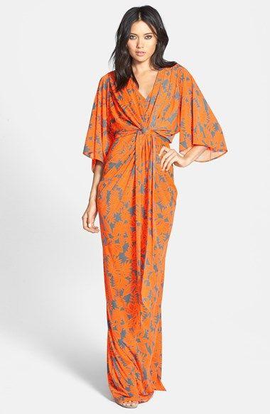 Love this dress on!!  Filtre Print Kimono Maxi Dress | Nordstrom
