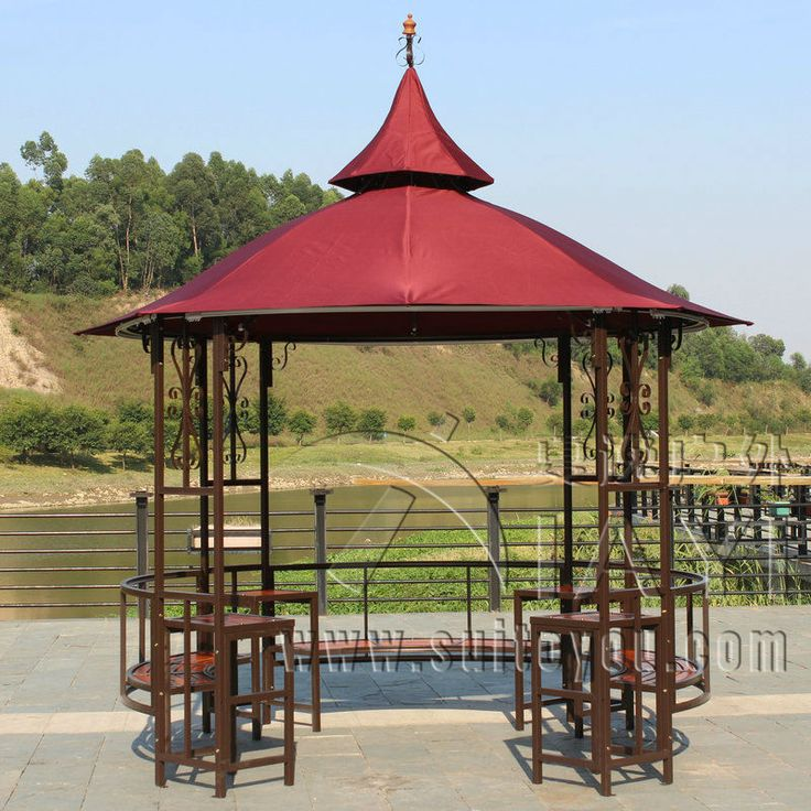 Dia 3.5 Luxury Meter Steel Iron High Quality Durbble Outdoor Gazebo Tent  Patio Pavilion Canopy Garden