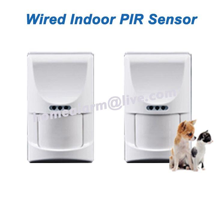 2pcs/lot Wired Indoor Pet Friendly PIR Sensor Motion Detector Passive Infrared Sensor for GSM PSTN Alarm System, Free Shipping