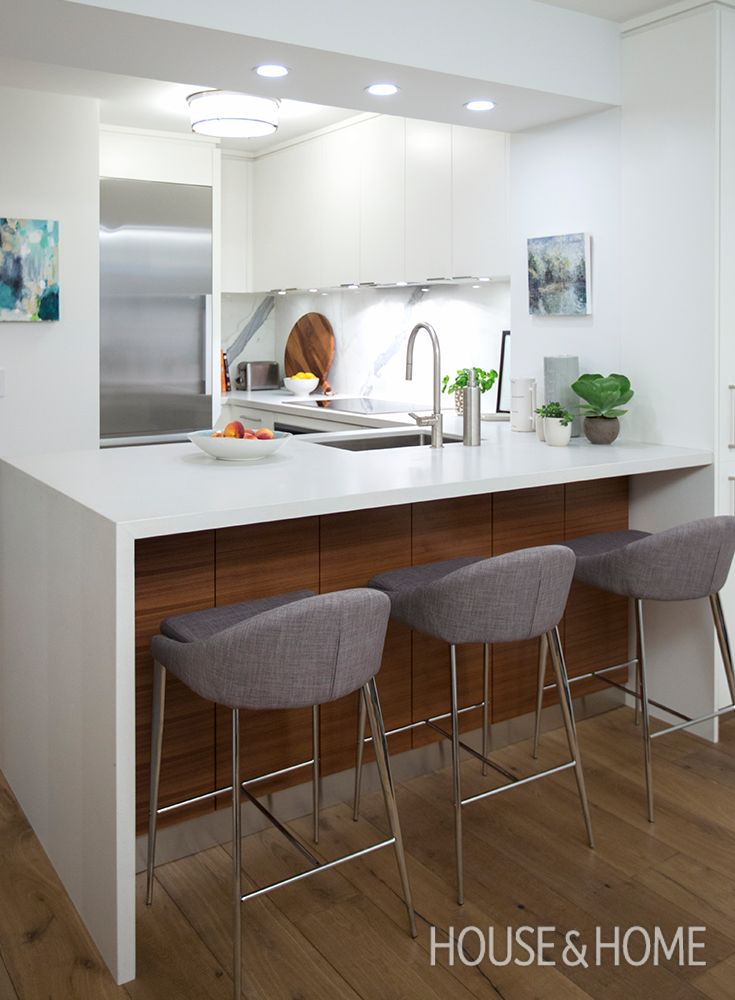 Designer Cameron MacNeil Transforms A Builder Basic Condo Kitchen Into A  Modern Space With Timeless Finishes Part 57