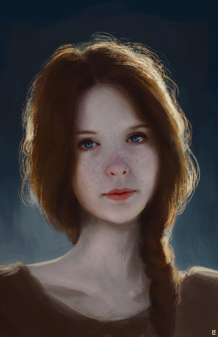 Portrait Study, Lisa Clark on ArtStation at http://www.artstation.com/artwork/portrait-study-3d69fb35-2aca-4904-bdcb-3c241acc5354