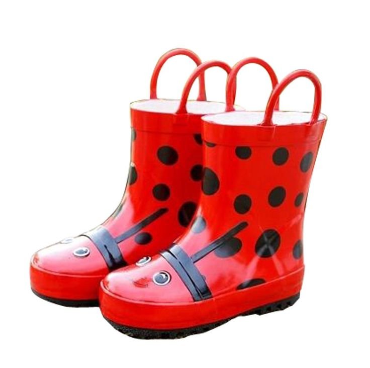 Cute Starry Kids' Rain Boots Red Ladybird Children Rainy Days Shoes 16.5CM. Rubber anti-slip rain boot. Color: red. Size: 16.5cm. Please choose the best fitness size for your baby according to its feet's length. We offer the Highest Quality and Lowest prices Guranteed!!.