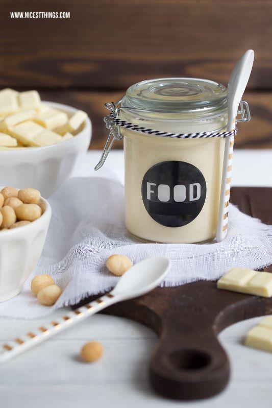 Wei�e Schokocreme mit Macadamia - 12 GOLD Gastgeschenketipps