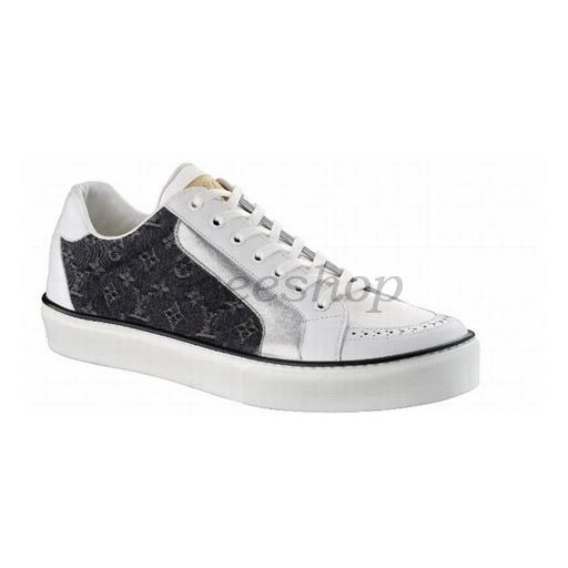 Louis Vuitton Shoes | Louis Vuitton LV Mens Shoes Sneakers Black White Silver #LV2012