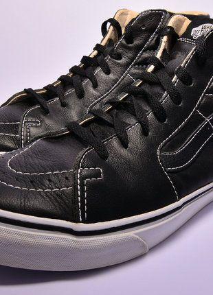 Kaufe meinen Artikel bei #Kleiderkreisel http://www.kleiderkreisel.de/herrenmode/turnschuhe-and-sneaker/141397755-vans-sk8-hi-44-leder-kostenloser-versand