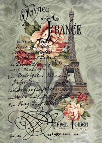 Fieltro Estampado Viaje a Francia 14,8x21cm