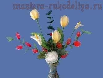 Видео мастер-класс по цветам из капрона: Тюльпаны