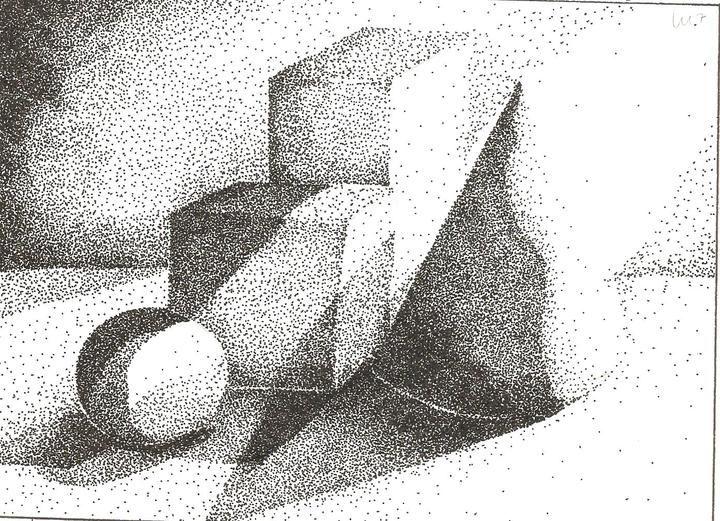 3º Eso Carande Elementos De Expresion Plastica 1 El Punto Dibujos De Puntos Expresionismo Elementos