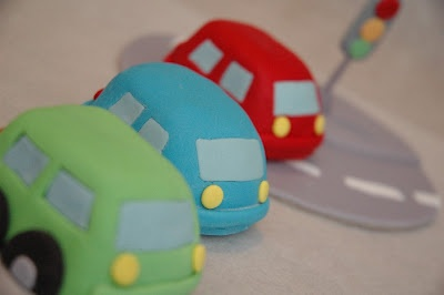 the cupcake gallery - kids' birthday - mini car cakes