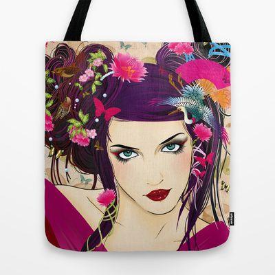 Sakura Tote Bag by ♠ Ren - $22.00