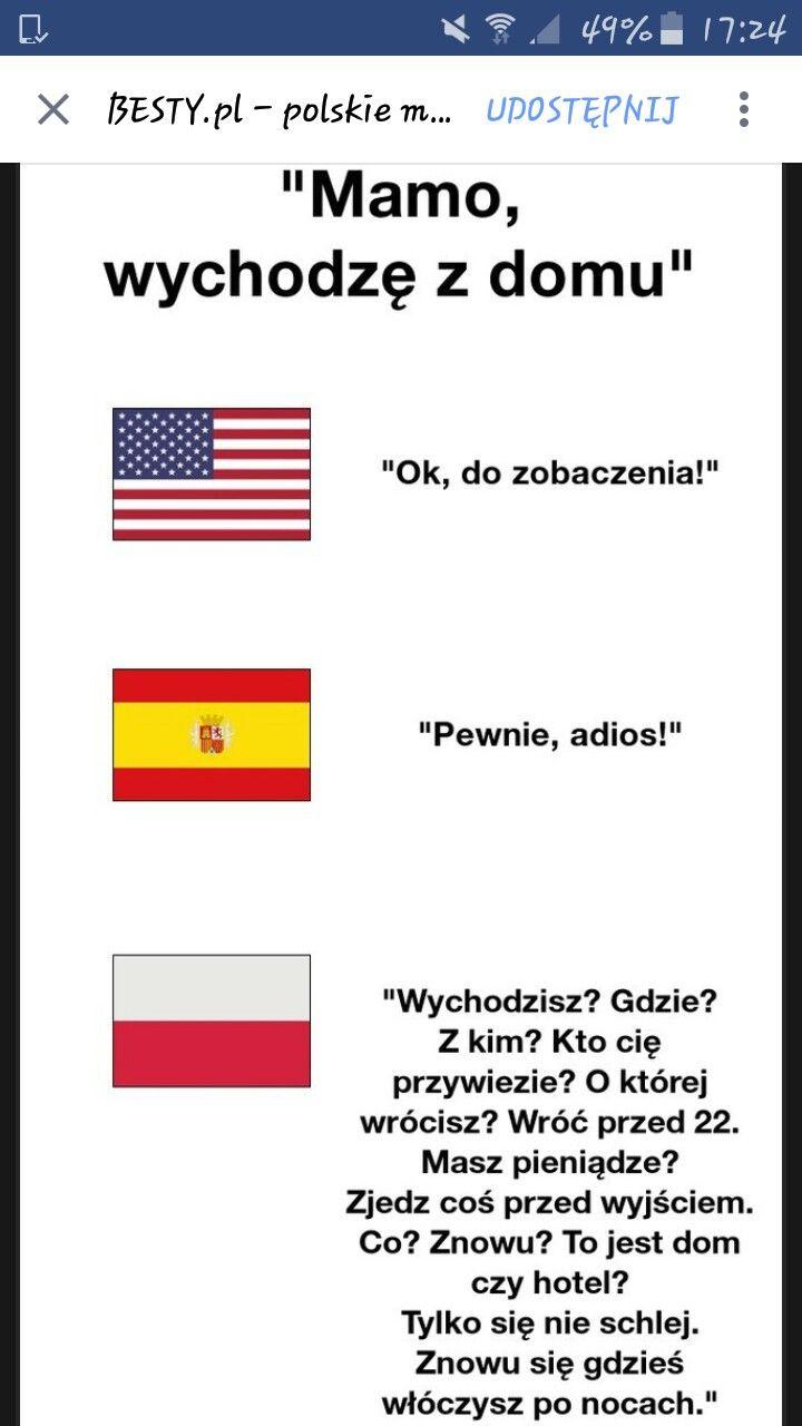Polska mama zawsze boi się o swoje dziecko xD