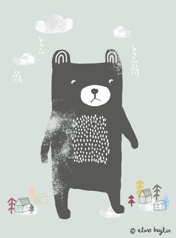 Bear   Illustration & Surface Pattern Design by Aless Baylis