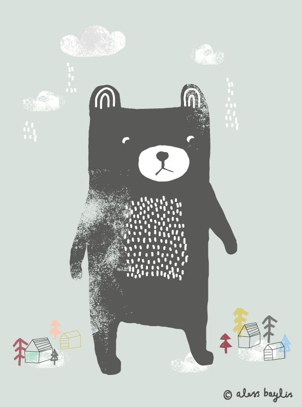 Bear | Illustration & Surface Pattern Design by Aless Baylis