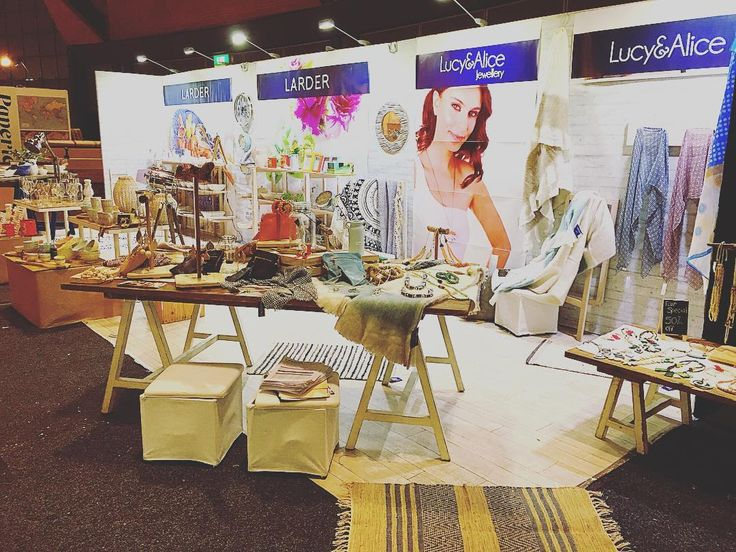 We are all set up and ready to show you our lovely new homewares and jewellery range! The Sydney Showgrounds The Dome Stand DK3! @agha_social  #wholesale #homewares #jewellery #newrange #sydney #lucyandalice #larder #lucy #alice #giftfair #australianretail #retail #shopping #gift #kitchen #lighting #rug #throw