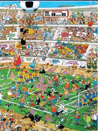 Cartoon Capers, Soccer Football 550 piece puzzle, Jan van Haasteren Ceaco…