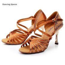 Lüks latin dans ayakkabıları womanhot fix rhinestone zapatos de baile latino elektrik kaplama altın/siyah balo salonu dans ayakkabıları(China (Mainland))