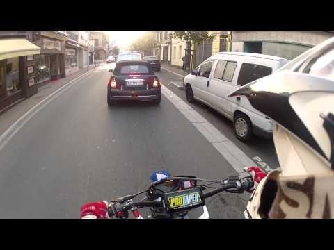 Go au bahu, vidéo matinal ~ New kit déco ! ~ Gopro hd2 ~ Derbi drd - YouTube