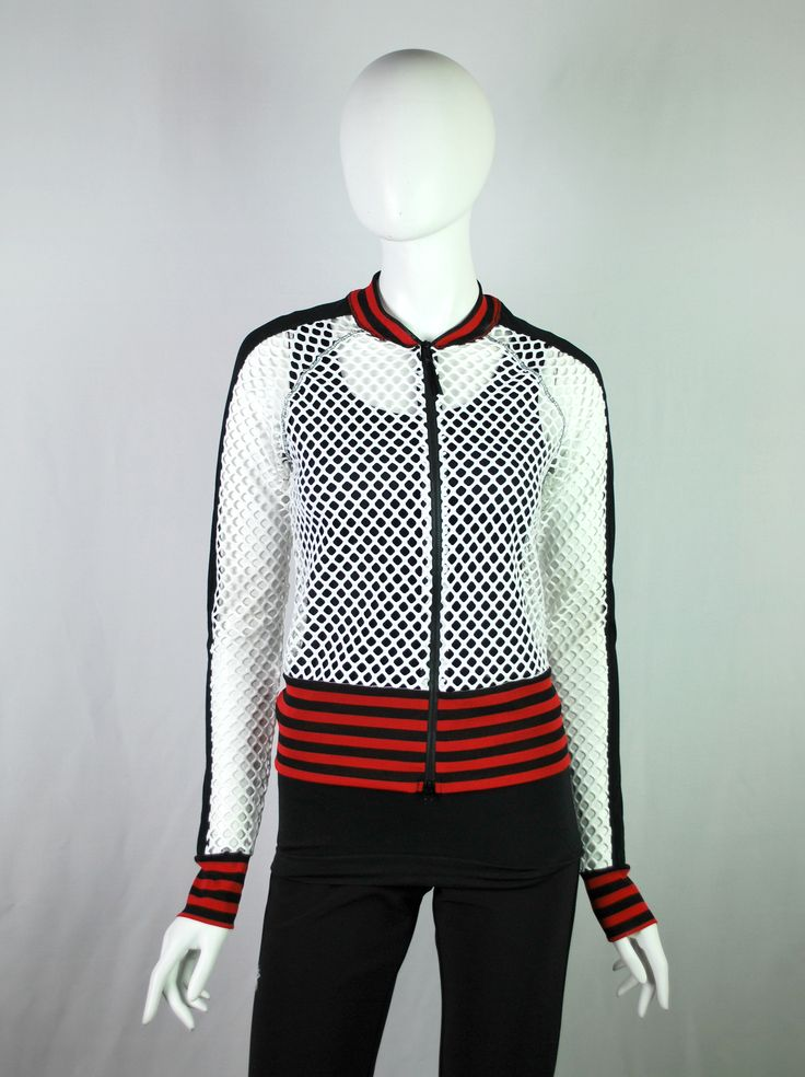 mesh baseball jacket at sandylew