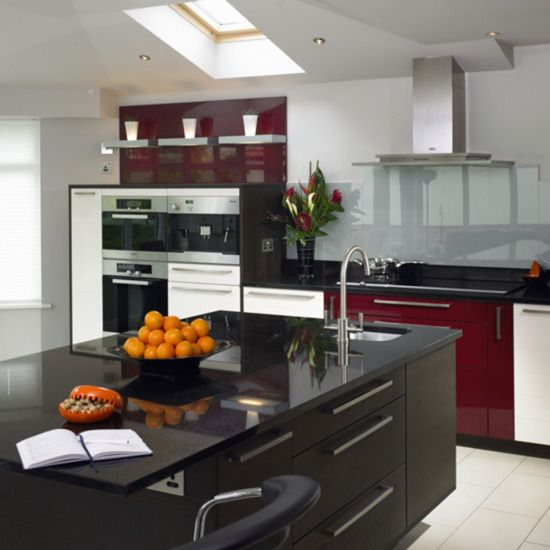Red Modern Kitchen Ideas | Home Interior Design, Kitchen and Bathroom Designs, Architecture and Decorating Ideas