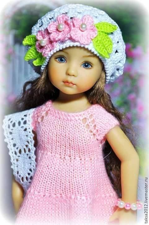 Mejores 18 imágenes de Vestidos De Muñecas A Crochet en Pinterest ...