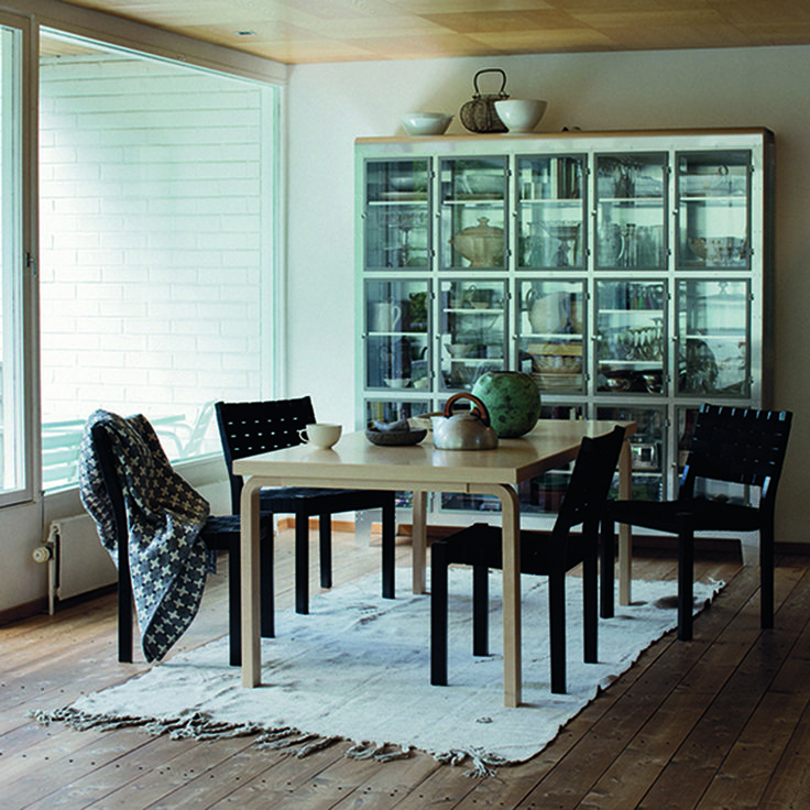 Artek Table 83 The Table 83 by Artek is a large, natural birch table featuring various surface options. The Artek Table 83 was designed by Alvar Aalto in 1935: