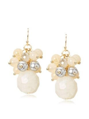 60% OFF Leslie Danzis Beaded Cluster Drop Earrings
