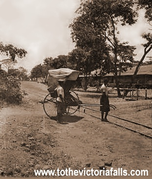 Rickshaw outside the old Victoria Falls Hotel