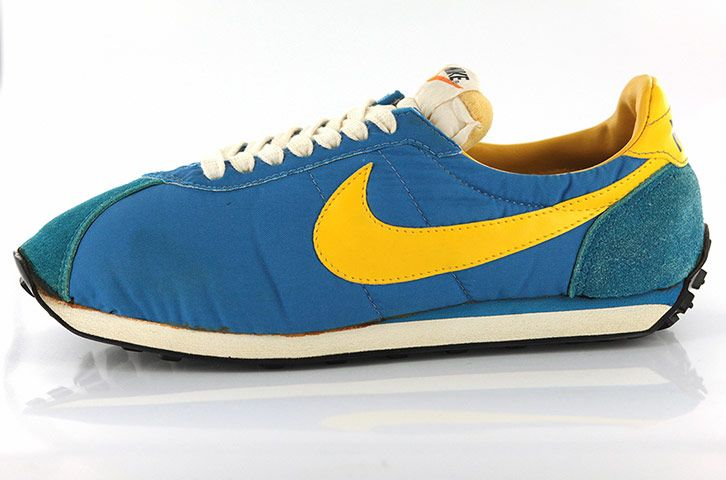 Credit: The Shoe Collection, Northampton Museums and Art Gallery The original Nike Waffle-soled trainers from 1977