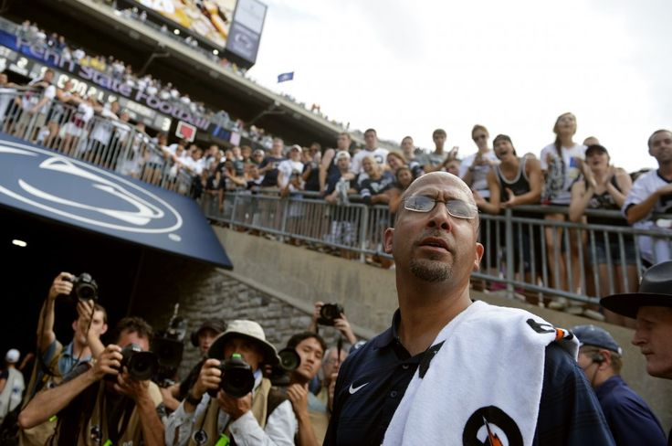 New Penn State head football coach James Franklin waits in the south end zone tunnel for his players at the end of a game at Beaver Stadium on Saturday, Sept. 6, 2014. Penn State defeated Akron 21-3 in new head coach James Franklin's first regular-season home game. Chris Dunn — Daily Record/Sunday News