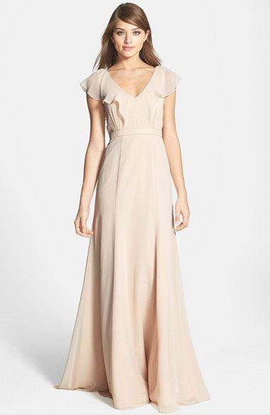 Jenny Yoo 'Cecilia' Ruffled Chiffon Long Dress (Online Only) | Nordstrom