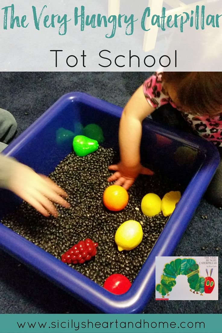 The Very Hungry Caterpillar Tot School   Activities that revolved around the ever popular book, The Very Hungry Caterpillar. See what we did during our caterpillar study for Tot School. Click through to see more.