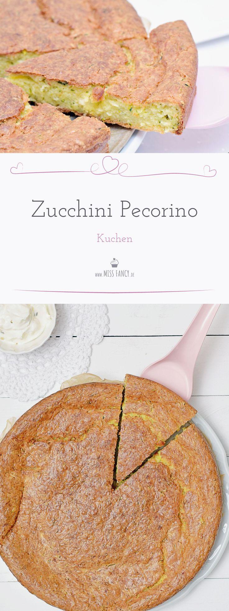 Dieser herzhafte Zucchini Pecorino Kuchen ist wahrlich keine Schönheit,  schmeckt aber absolut lecker und ist daher heute mein Rezeptvorschlag  für dich. #herzhaft #Kuchen #Zucchinikuchen
