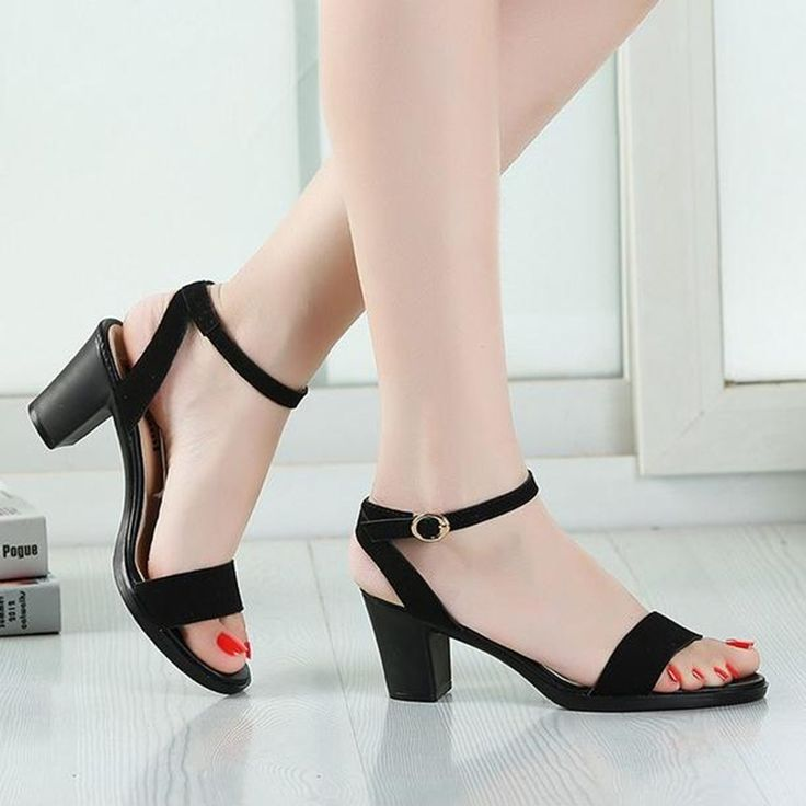 29.33$  Watch here - http://ali9rb.shopchina.info/1/go.php?t=32792747597 - 2017 female summer sandals High-heeled ankle strap  Roman sandals fashion simple summer Women Shoes slippers obuv zapatos  #aliexpressideas