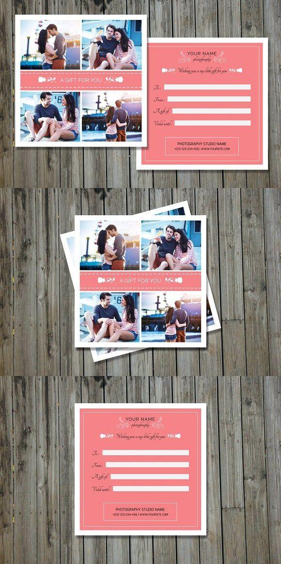 Photographer Gift Certificate-V02. Gift Voucher Design Templates. $8.00